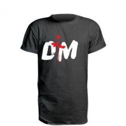 Удлиненная футболка depeche mode logo
