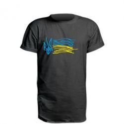 Подовжена футболка Дитячий малюнок прапор України