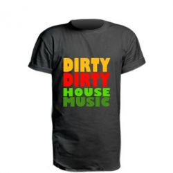 Удлиненная футболка DIRTY DIRTY HOUSE MUSIC