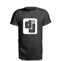 Удлиненная футболка DJ star - FatLine