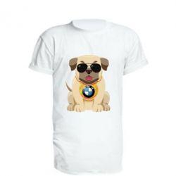 Подовжена футболка Dog with a collar BMW