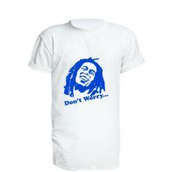 Удлиненная футболка Don't Worry (Bob Marley)