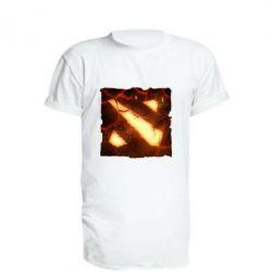 Удлиненная футболка Dota 2 Fire Logo