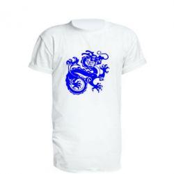Удлиненная футболка Дракон