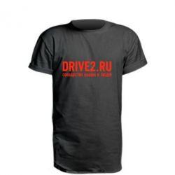 Удлиненная футболка Drive2.ru - FatLine