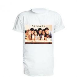Удлиненная футболка Друзья в сборе