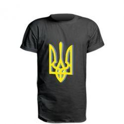 Подовжена футболка Двокольоровий герб України