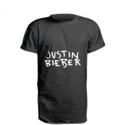 Подовжена футболка Джастин Бибер