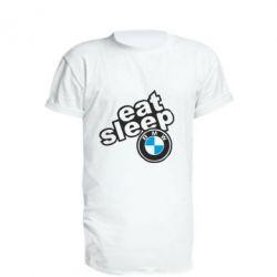 Подовжена футболка Eat, sleep, BMW