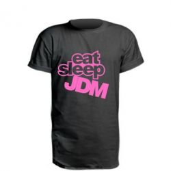 Удлиненная футболка Eat sleep JDM