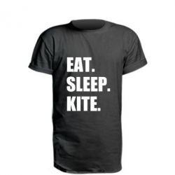Подовжена футболка Eat, sleep, kite