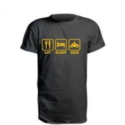 Подовжена футболка Eat, sleep, ride