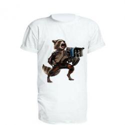 Удлиненная футболка Енот Стражи Галактики