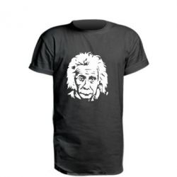 Удлиненная футболка Энштейн - FatLine