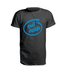 Удлиненная футболка Evil Inside