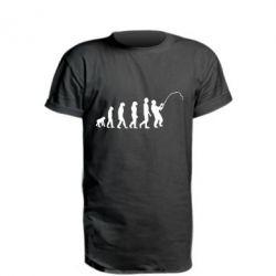 Подовжена футболка Еволюція рибалки