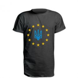 Удлиненная футболка ЕвроУкраїна