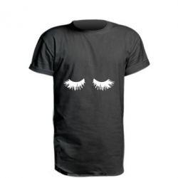 Подовжена футболка Eyelashes