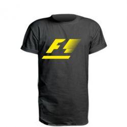 Удлиненная футболка F1 - FatLine