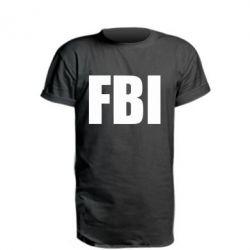 Удлиненная футболка FBI (ФБР)