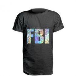 Подовжена футболка FBI голограма