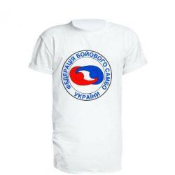Удлиненная футболка Федерация Боевого Самбо Украина - FatLine