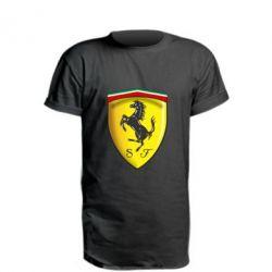 Удлиненная футболка Ferrari 3D Logo
