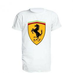 Удлиненная футболка Ferrari