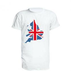 Удлиненная футболка Флаг Англии
