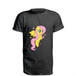 Удлиненная футболка Fluttershy