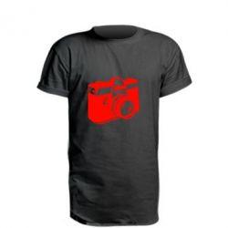 Подовжена футболка Фотоапарат