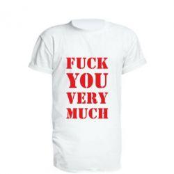 Подовжена футболка Fuck you very much