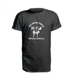 Удлиненная футболка Full contact fighter K-1 Worldmax - FatLine