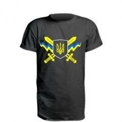 Удлиненная футболка Герб та мечи