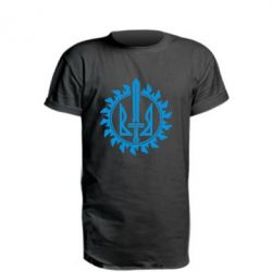Удлиненная футболка Герб у сонці - FatLine
