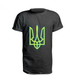 Удлиненная футболка Герб України (двокольоровий) - FatLine