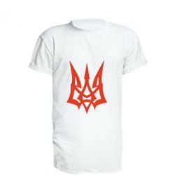Подовжена футболка Герб України новий