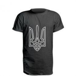 Подовжена футболка Герб України (полий)