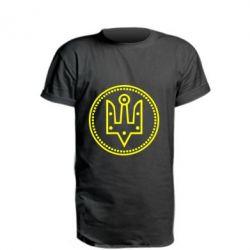 Подовжена футболка Герб України у колі