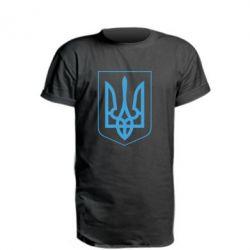 Подовжена футболка Герб України з рамкою
