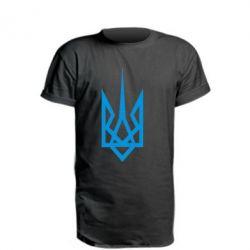 Удлиненная футболка Герб України загострений