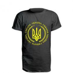 Подовжена футболка Герб України