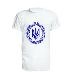 Чоловічі спортивні футболки · Подовжена футболка Герб України - FatLine fab812d60bce0