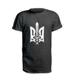 Удлиненная футболка Герб з мечем