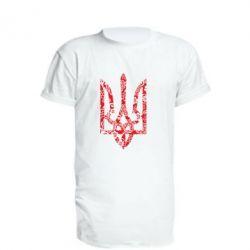 Удлиненная футболка Герб з візерунками