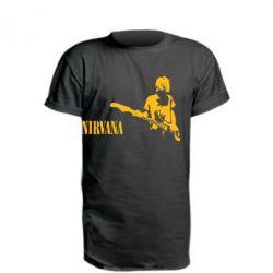 Подовжена футболка Гітарист Nirvana