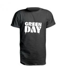 Удлиненная футболка Green Day