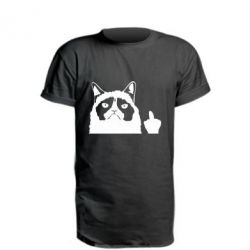 Подовжена футболка Grumpy cat F**k Off