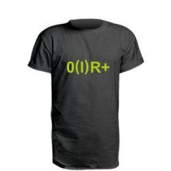 Удлиненная футболка Группа крови (1)0+