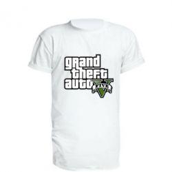 Удлиненная футболка GTA V Maine Logo
